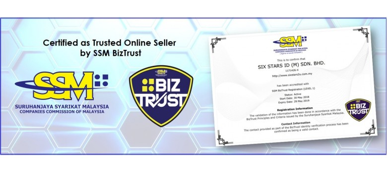Certified as Trusted Online Seller by SSM BIZTRUST